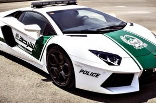 Lamborghini Aventador voitures de police de dubai
