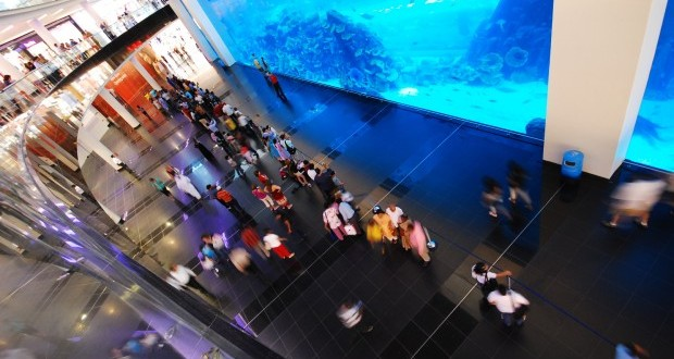 Le Dubaï Mall accueille l'un des plus grands aquariums du monde.