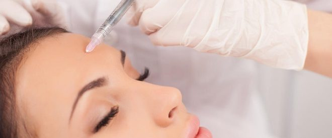 Injection de botox au visage