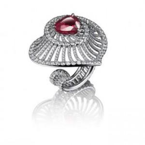 bijou pour la Saint-Valentin Adler bague rubis coeur