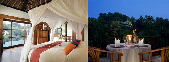 Dans sa chambre ou en terrasse le Hanging Gardens Ubud appelle au rêve et à la détente.