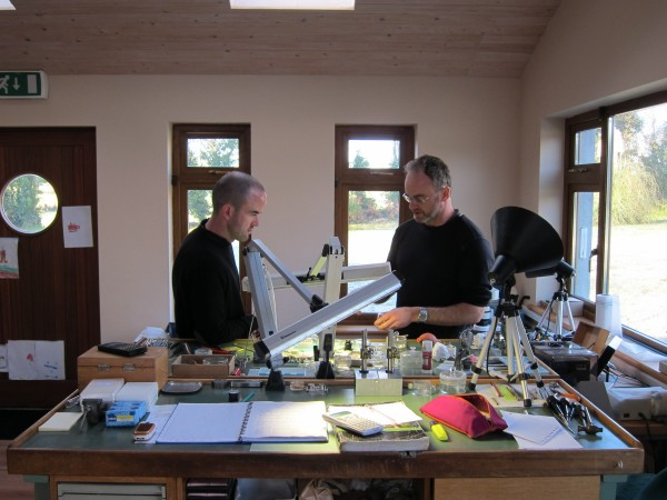 John and Stephen at their workshop in Athlone