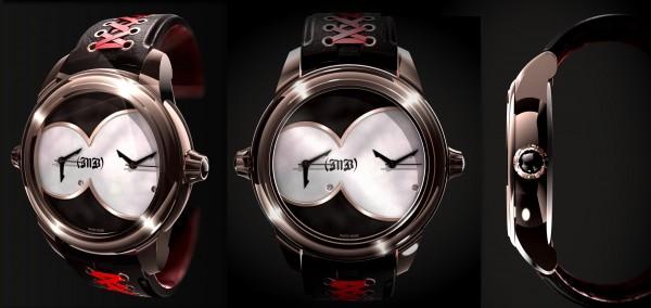 Luxure ban horizontale MB Watches, La Dame de Caractère