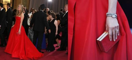 Jennifer Aniston, bracelets en diamants par Fred Leighton
