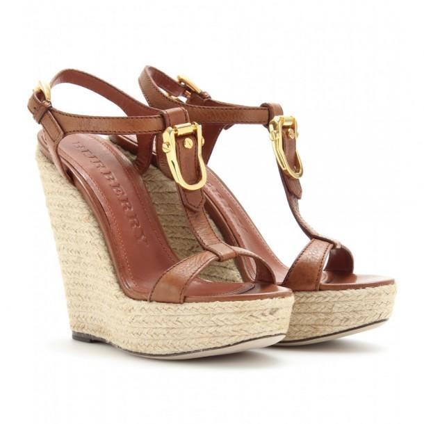 chaussures de luxe Compensées Burberry