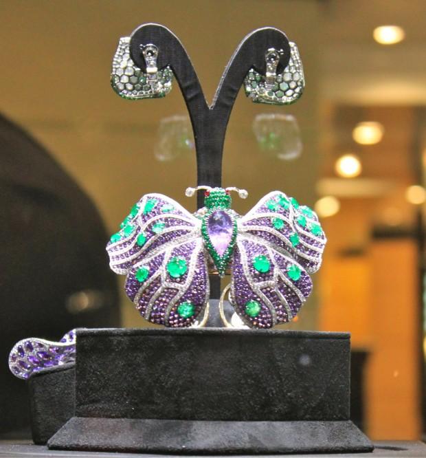 Broche Papillon en émeraudes et amatysthes Bilan Baselworld 2013
