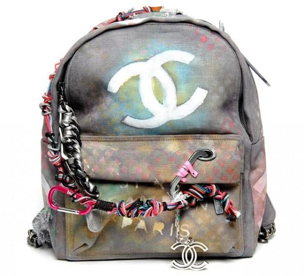 sac à dos graffiti Chanel