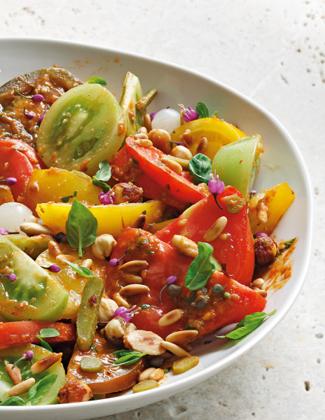 Christophe Martin et sa Salade de tomates, sauce Romesco