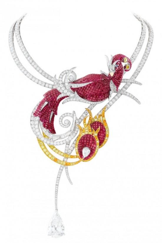 Van Cleef and Arpels collier Phoenix Mysterieux