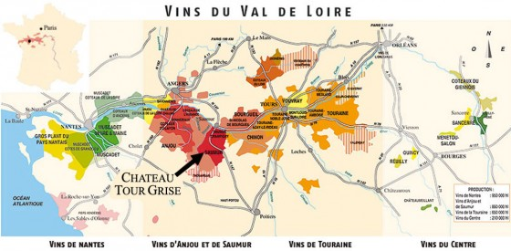 carte vins de loire viaprestige