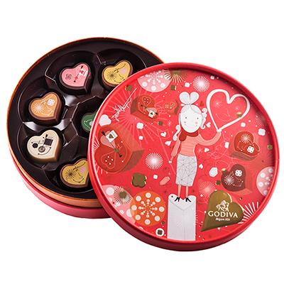Chocolats Godiva Saint-Valentin