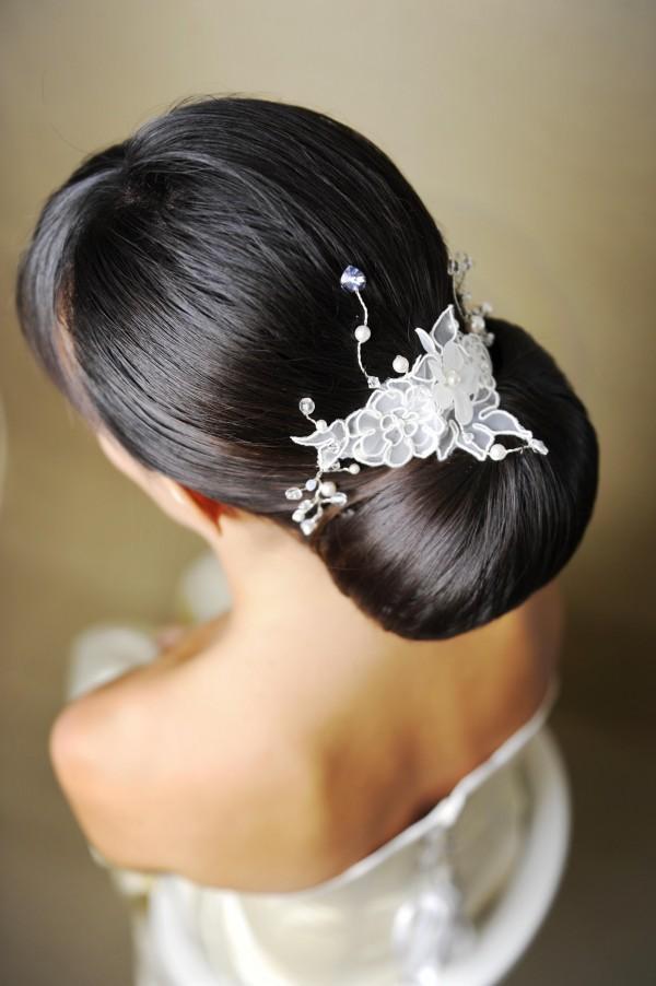 L'une des tendances 2013, le chignon classique Coiffure de Mariage