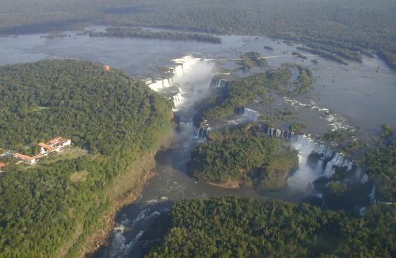 Les chutes d'Iguaçu, sur la frontière brésilienne.