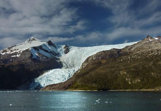Le glacier Italia, dans la partie chilienne du canal de Beagle.