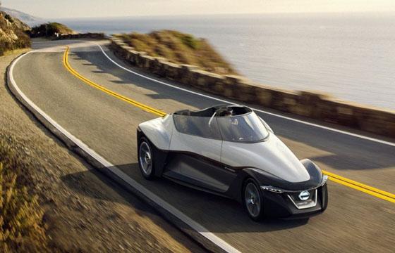 La Nissan BladeGlider avec sa forme fuselée revendique une prise au vent minimale.