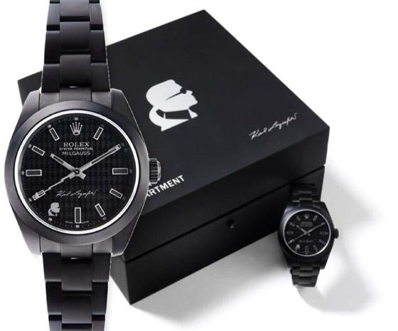 La Rolex Oyster Perpetual Milgauss édition Karl Lagerfeld et son coffret à l'élégance maîtrisée