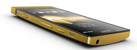 téléphone sony Xperia P en or 24 carats