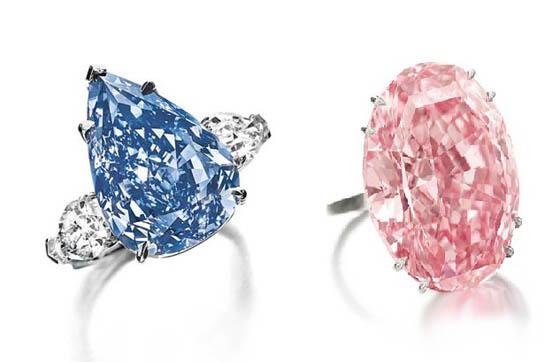 Que ce soit le Winston Blue ou le Pink Dream, les enchères s'envolent complètement pour les diamants aux coloris uniques